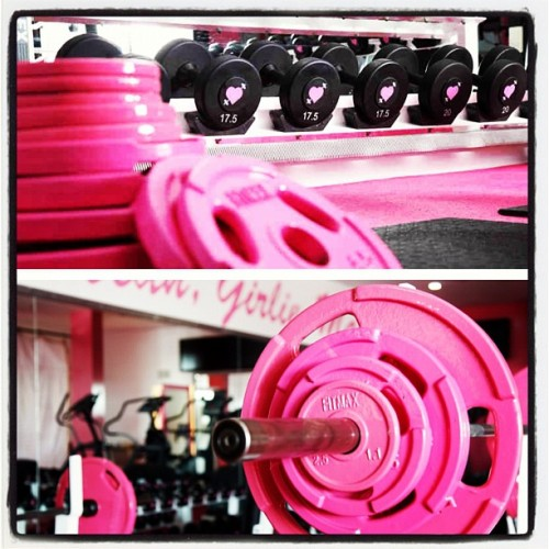 note to self: get entire future home #gym powdercoated #pink #fitness #fitspo #obsessed (Taken with Instagram)