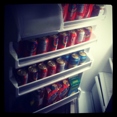 We have a fridge just for drinks !  (Taken with Instagram)