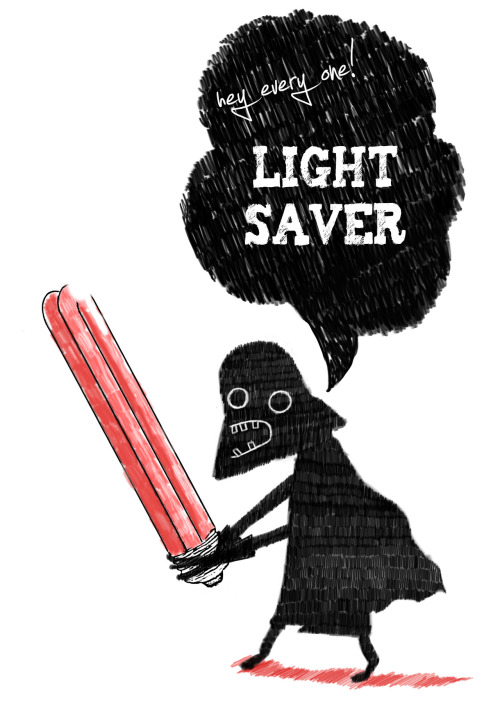 HEY EVERYONE! LIGHT SAVER! part of the new stuff http://society6.com/stevontoast/tshirts