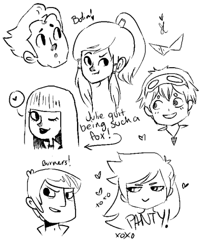 petitpanda:  sonnydoodles:  Things I'm currently obsessed with: Legend of Korra Motorcity Panty & Stocking Gurren Lagann  Oh wow it's like all of my favorite things.