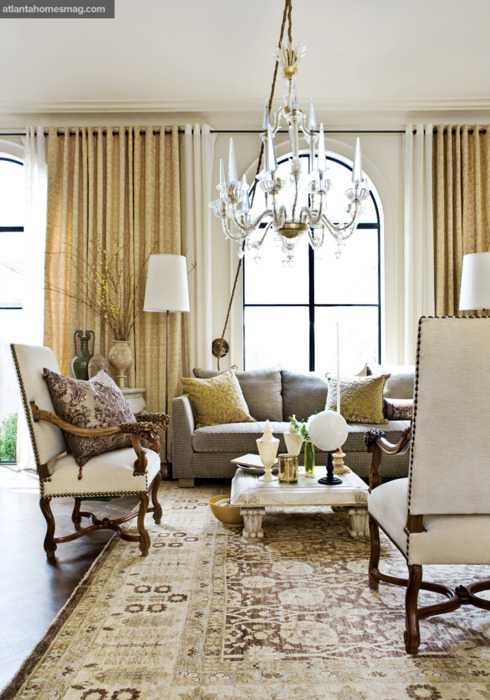 georgianadesign:  Living Room, Barry Dixon. Atlanta Homes & Lifestyles