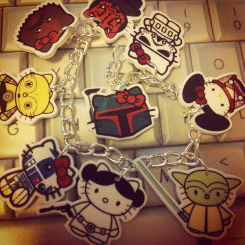 WHO SENT ME THIS STAR WARS HELLO KITTY GIFT W/ NO NOTE!?!! (Taken with Instagram)