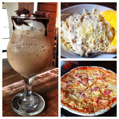 Mocha Brownie Frap + Carbonara Pasta + Margherita Pizza = yummy lunch!! Burp! :) 👿😍😘😊😄👍 #igerspinoy #igersbatangas #igersasia #picoftheday #photooftheday #bestoftheday #delicious #food #foodoftheday #instadaily #instamood #instalove #instagood #igdaily  (Taken with Instagram at Wada's Pizzeria)