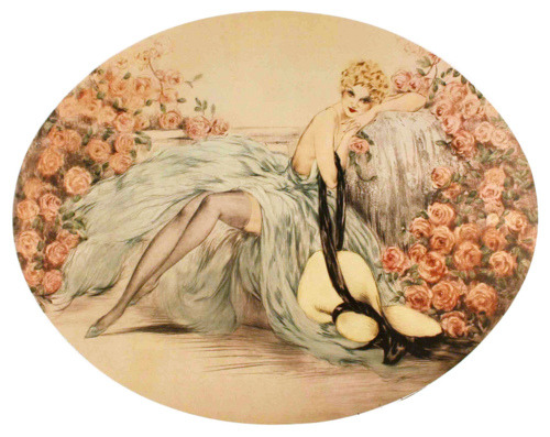 crookedhalo4me:  Belle Rose by Louis Icart