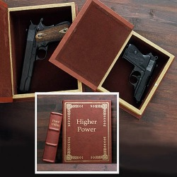 Secret gun compartment hollow book set - Higher Power and Peace Within