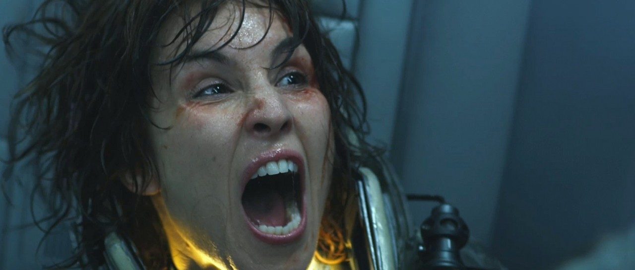 Prometheus: Prometheus is beautiful. I don't really know how to explain it. There is just an indescribable way that it puts the fear in you. I haven't seen any of the Alien movies so I have no preconceived notions or expectations from this movie in respect to being a sequel, and I think this is the best way to approach this movie. You must avoid trying to link the film to Alien in a plot sense, and appreciate the way Scott and the cast are telling this very unique story. My favorite part of the move is how the visual treatment and audio work so well together. The music is always complimentary, but never invisible. It adds depth to the already thick and glossy futuristic visuals, on the ship, and to the hellish and primitive style of the moons environment. I also really appreciate how these two visual styles, as well as their subjects, interact with each other. When the android David first initiates the play-back of the holographic video in the tunnel, it truly captivates you, it holds you over the edge of the cliff and drops you, before catching you by the foot and pulling you back to safety, before kicking you off again. I'm done talking about it.