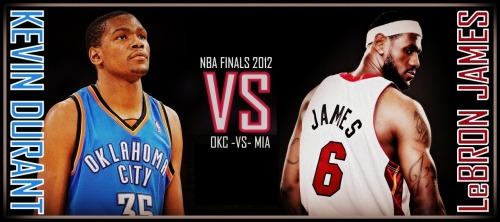 NBA FINALS 2012 OKLAHOMA CITY THUNDER VS MIAMI HEAT KEVIN DURANT VS LeBRON JAMES