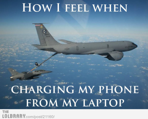 dailyfunpictures:  How I Feel Charging My Phone From My LaptopFollow this blog for the best new funny pictures every day