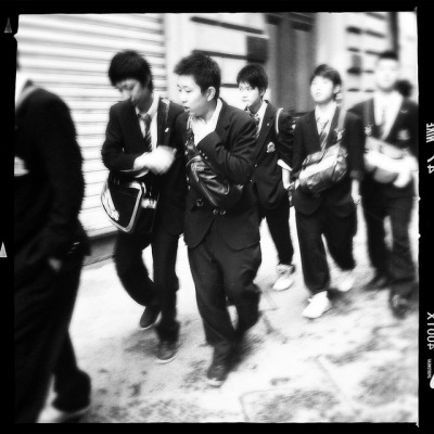 "School boys from Japan walking the streets of Florence on an early Sunday morning on Flickr.This photo is an outtake from the gallery already released on my main website and titled ""Walking amongst them""; details, description and the full set of photos available atstuff.aledigangi.com/galleries/walking_amongst_them/"