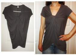Anthropologie Left of Center Charcoal Top XS Please click here to shop on my eBay auction page. SOLD