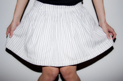 the white stripe skirt