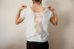 the lace back shirt