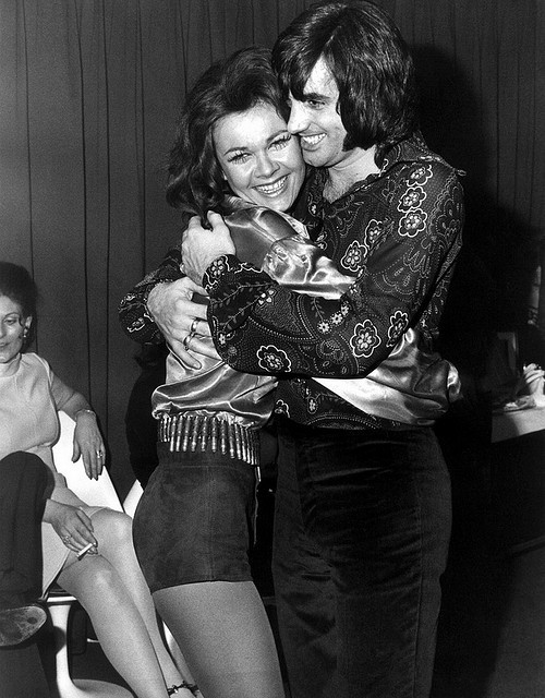 Footballer George Best with British actress Imogen Hassall 1968