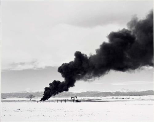 Robert Adams - Burning Oil Sludge North of Denver (1975).