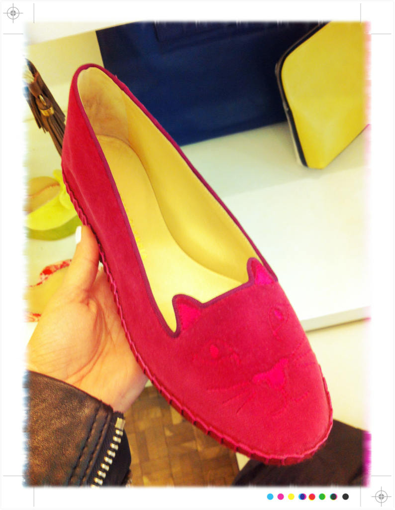 It feels like a pair of velvet flats is a must have in your summer/fall wardrobe. Traditional emblem flats from Penelope Chilvers or these cat paws from Charlotte Olympia
