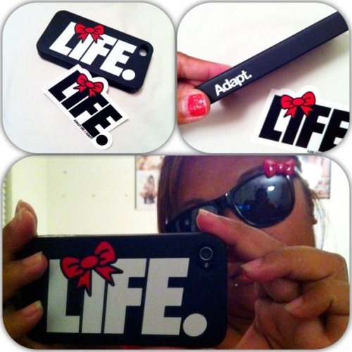 Eek! I got my #bowlife #iphone4 case from #adapt! Gotta love #ashleyvee 👍❤ #hellokitty #inspired 📱 (Taken with Instagram)