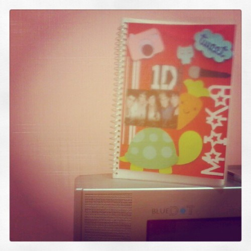 my notebook for school :) (Taken with Instagram)