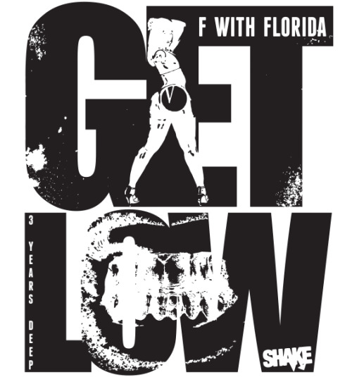 F WITH FLORIDA - 3 YEARS OF GET LOW - Download the FREE Compilation Thursday, June 14th 2012! Witness evidence of the South Florida Bass Boom. Featuring exclusives and rare music from Adames, Animal Krackerz / AMKZ, ARK IX, Ashworth, Bats!, Gray Ghost, Henry Krinkle, Miami Bass Warriors, Nome, Rackup & Pinion, Somejerk & Sounduo.