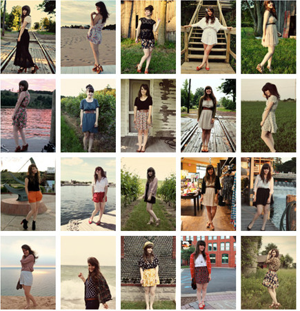 I absolutely love Tieka's fashion blog, I fell in love with her vintage style clothes and shoes :)