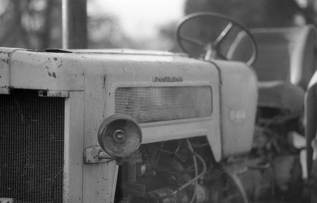 Another old tractor Olympus OM1n / Zuiko 85mm f2 / Yellow filter / Fomapan 400