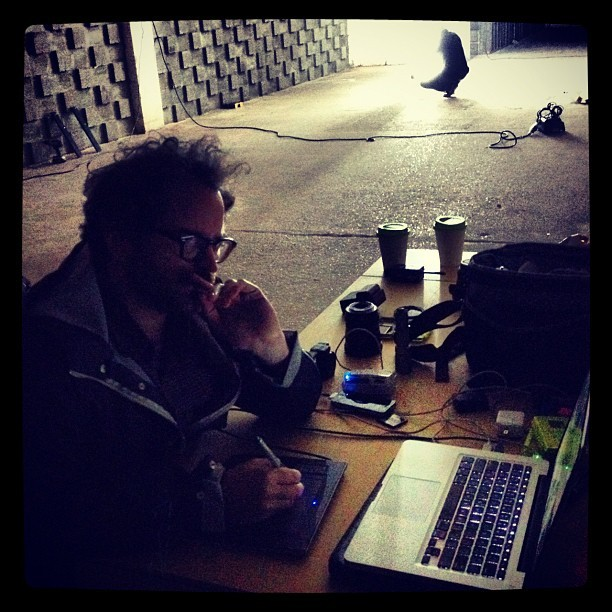 On set with @timothysaccenti  (Taken with Instagram)