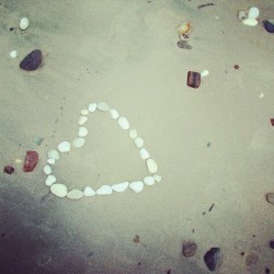 beach art happens #summer #beach #sea #sand #beach arts #art #heart #love #creative #indie #minimal #greece #thassos #island #coast #sweet (Taken with Instagram)