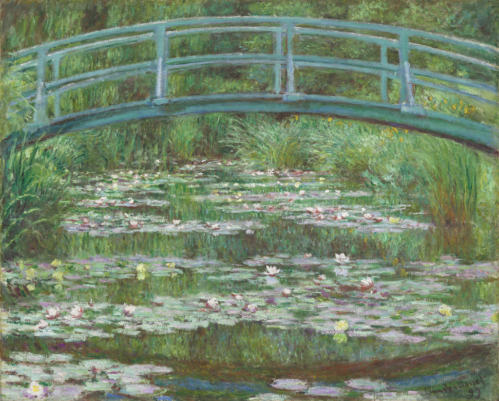 fckyeaharthistory:  Claude Monet - The Japanese Footbridge, 1899. Oil on canvas
