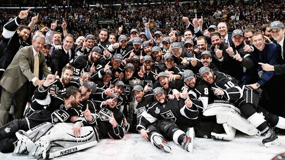 The Los Angeles Kings are your 2011-2012 Stanley Cup Champions. Way to keep it out of Newark, boys!