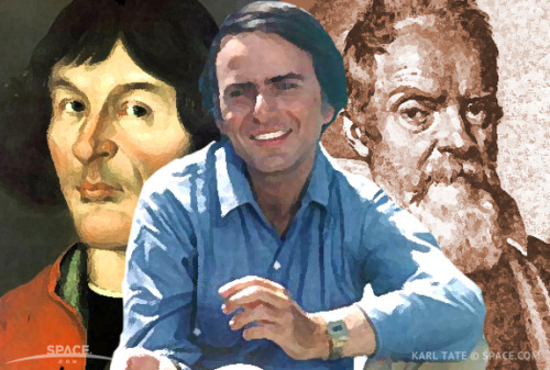 "the-star-stuff:  Famous Astronomers | List of Great Scientists in Astronomy Throughout human history, scientists have struggled to understand what they see in the universe.  Famous astronomers — many of them  great scientists who mastered many fields — explained the heavens with varying degrees of accuracy. Over the centuries, a geocentric view of the universe — with Earth at the center of everything — gave way to the proper understanding we have today of an expanding universe in which our galaxy is but one of billions. On this list are some of the most famous scientists from the early days of astronomy through the modern era, and a summary of some of their achievements. When most people believed the world was flat, the notable Greek mathematician, astronomer and geographer Eratosthenes (276 BCE- 195 BCE) used the sun to measure the size of the round Earth. His measurement of 24,660 miles (39,690 kilometers) was only 211 miles (340 km) off the true measurement. The ancient Greek astronomer and mathematician Claudius Ptolemy (AD 90- 168) set up a model of the solar system in which the sun, stars, and other planets revolved around Earth.  Persian astronomer Abd al-Rahman al-Sufi (903-986), known as Azophi to Westerners, made the first known observation of a group of stars outside of the Milky Way, the Andromeda galaxy. In 16th century Poland, astronomer Nicolaus Copernicus (1473-1543) proposed a model of the solar system that involved the Earth revolving around the sun. The model wasn't completely correct but it eventually changed the way many scientists viewed the solar system. Using detailed measurements of the path of planets kept by Danish astronomer Tycho Brahe, Johannes Kepler (1571-1630) determined that planets traveled around the sun not in circles but in ellipses. In so doing, he calculated three laws involving the motions of planets that astronomers still use in calculations today. Born in Italy, Galileo Galilei (1564-1642) is often credited with the creation of the optical telescope, though in truth he improved on existing models. The astronomer turned the new observational tool toward the heavens, where he discovered the four primary moons of Jupiter (now known as the Galilean moons), as well as the rings of Saturn. Though a model of the Earth circling the sun was first proposed by Copernicus, it took some time before it became widely accepted.  Dutch scientist Christiaan Huygens (1629-1695) proposed the earliest theory about the nature of light, a phenomena that puzzled scientists for hundreds of years. His improvements on the telescope allowed him to make the first observations of Saturn's rings and to discover its moon, Titan. Building on the work of those who had gone before him, English astronomer Sir Isaac Newton (1643-1727) is most famous for his work on forces, specifically gravity. He calculated three laws describing the motion of forces between objects, known today as Newton's laws. In the early 20th century, German physicist Albert Einstein (1879-1955) became of of the most famous scientists ever after proposing a new way of looking at the universe that went beyond current understanding. Einstein suggested that the laws of physics are the same throughout the universe, that the speed of light in a vacuum is constant, and that space and time are linked in an entity known as space-time, which is distorted by gravity. At the same time Einstein was expanding man's view of the universe, American astronomer Edwin Hubble (1899-1953) calculated that a small blob in the sky existed outside of the Milky Way. Prior to his observations, the discussion over the size of the universe was divided as to whether or not only a single galaxy existed. Hubble went on to determine that the universe itself was expanding, a calculation which later came to be known as Hubble's law.  American astronomer Carl Sagan (1934-1996) may not have been a great scientists in comparison to some on this list, but he is one of the most famous astronomers. Sagan not only made important scientific studies in the fields of planetary science, he also managed to popularized astronomy more than any other individual. His charismatic teaching and boundless energy impacted people around the world as he broke down complicated subjects in a way that interested television viewers even as he educated them. Stephen Hawking (born 1942) has made many significant insights into the field of cosmology. He proposed that, as the universe has a beginning, it will likely also end. He also suggested that it has no boundary or border. . Other astronomers that achieved significant discoveries and are often mentioned among the greats: Italian astronomer Giovanni Cassini (1625-1712) measured how long it took the planets Jupiter and Mars to rotate, as well as discovering four moons of Saturn and the gap in the planet's rings. When NASA launched a satellite to orbit Saturn and its moons in 1997, it was fittingly dubbed Cassini. Edmond Halley (1656-1742) was the British scientist who reviewed historical comet sightings and proposed that the comet which appeared in 1456, 1531, 1607, and 1682 were all the same, and would return in 1758.  French astronomer Charles Messier (1730-1817) composed a database of objects known at the time as ""nebula,"" which included 103 objects at its final publication, though additional objects were added based on his personal notes. Many of these objects are often listed with their catalog name, such as the Andromeda Galaxy, known as M31.  British astronomer William Herschel (1738-1822) cataloged over 2,500 deep sky objects. He also discovered Uranus and its two brightest moons, two of Saturn's moons, and the Martian ice caps. William trained his sister, Caroline Herschel (1750-1848), in astronomy, and she became the first woman to discover a comet, identifying several over the course of her lifetime. Henrietta Swann Leavitt (1868-1921)was one of several women working as a ""computer"" for Edwin Hubble at Harvard college, identifying images of variable stars on photographic plates. She discovered that the brightness of a special flashing star known as a Cepheid variable was related to how often it pulsed. American astronomer Harlow Shapley (1885-1972) calculated the size of the Milky Way galaxy and general location of its center. He argued that the objects known as ""nebula"" lay within the galaxy, rather than outside of it, and in 1920 participated in the ""Great Debate"".  Frank Drake (born 1930) is one of the pioneers in the search for extraterrestrial intelligence. He was one of the founders of the Search for Extraterrestrial Intelligence (SETI) and the deviser of the Drake equation, a mathematical equation used to estimate the number of extraterrestrial civilizations in the Milky Way galaxy able to be detected. American astronomer William K. Hartmann (born 1939) put forth the most widely accepted theory on the formation of the moon in 1975. He proposed that, after a collision with a large body scooped, debris from the Earth coalesced into the moon. —Nola Taylor Redd  there are some mother fuckers past and present that are so god damn plugged into this world it's amazing"