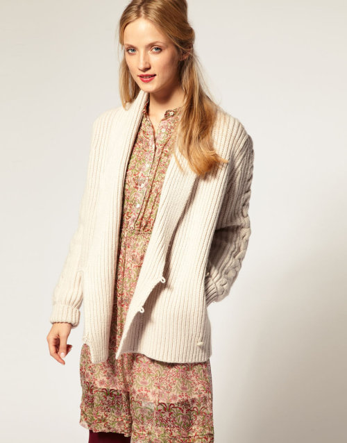 Paul & Joe Sister Chunky Cardigan with Ribbed WrapMore photos & another fashion brands: bit.ly/JgOHhG