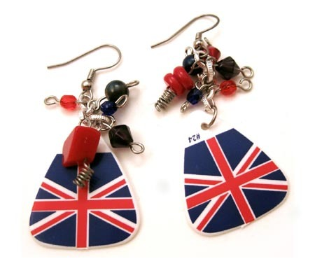 The Union Jack on earrings.