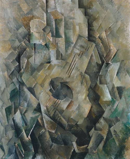 fckyeaharthistory:  Georges Braque - Mandora, 1909-10. Oil on canvas