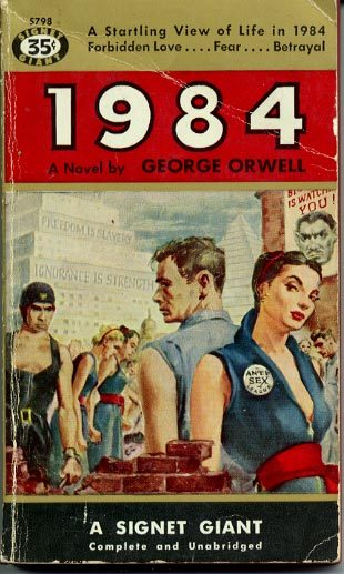 I have never seen such a fabulously pulpy cover of 1984.