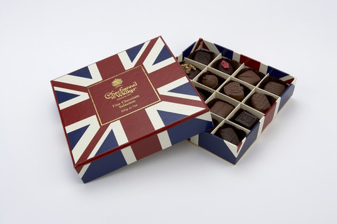 The Union Jack on a chocolate box.