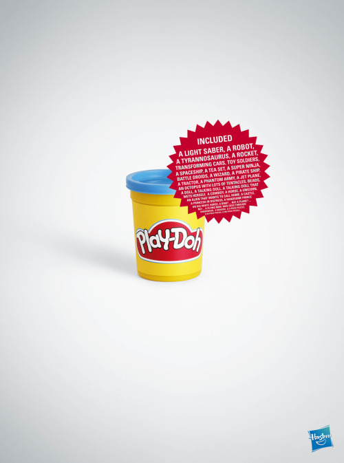 Hasbro Playdoh Advertising Agency: DDB, Paris, FranceExecutive Creative Director: Alexandre HervéArt Director: Barbara PalocCopywriter: Maryam GhorbanizadehPhotographer: Yvan Fabing