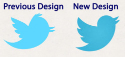 Old and new Twitter bird logo