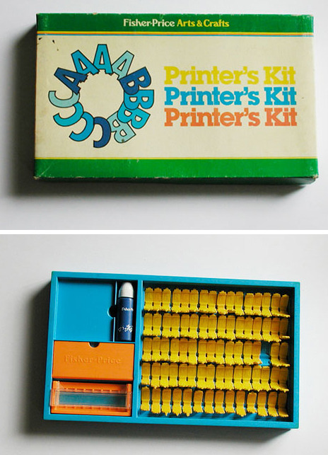 Fisher-Price Printer's Kit (via things)