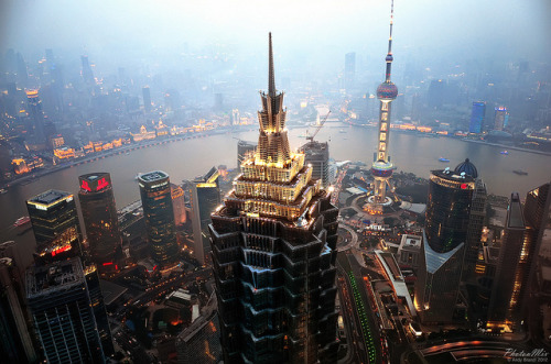 expensivelife:  Shanghai - Jin Mao Tower and Cityscape by PhotonMix on Flickr.