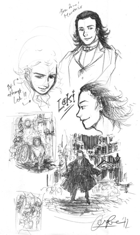 A Study in Loki.  This is trial sketches I did for my contribution in a friend's anthology project, which will be sold in STGCC 2012 and FuyuComi if I'm not mistaken? I'll let you guys know if it's out yet. If you like American comics, you wouldn't want to miss this one ^ ^  Also, I have so much Tom Hiddleston and BBC Sherlock feels lately I think I'm gonna *incoherent speech* …you get the idea. Soon I'll be posting sketch studies in BBC Sherlock, for yet another project.