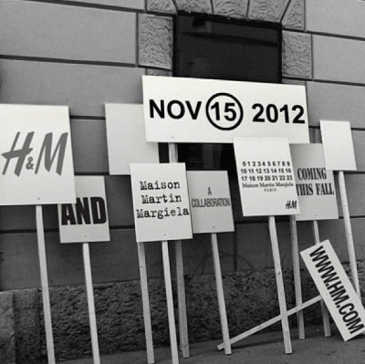 maison martin margiela is collaborating with h&m, launching november 15!!! #margielawithhm