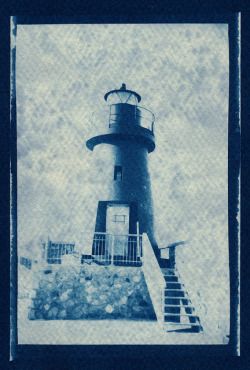 blue postcard - Lighthouse by biondapiccola (Holga my Dear) on Flickr.