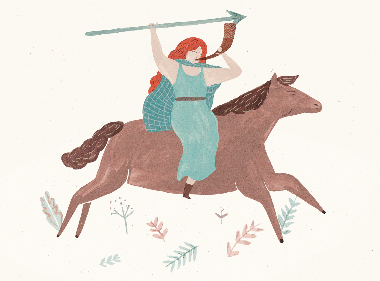 A picture of Boudicca i painted for something i'm working on at the moment…