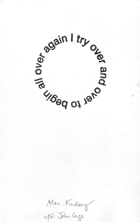 "visual-poetry:  ""33 circle poem (i try to begin)"" by alec finlay"