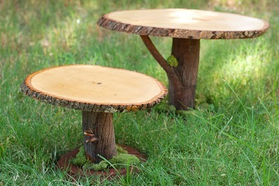 Wooden Cake Stand {How to} Found at: tikkido
