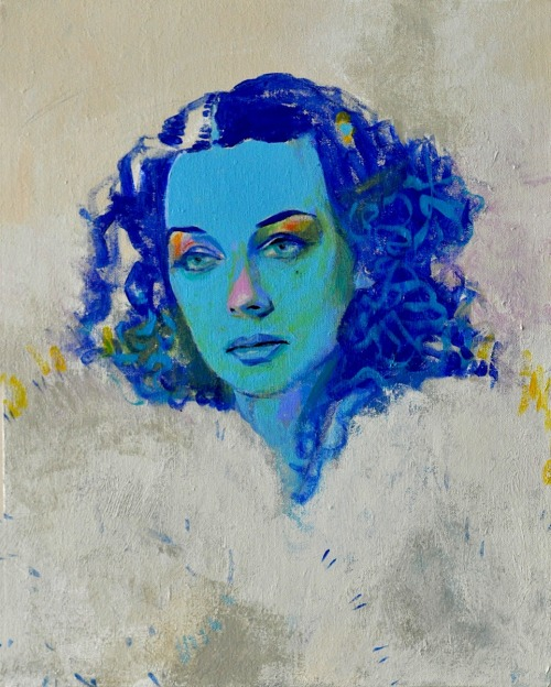 marysoul:  Loved the feeling of the painting. Nostalgic. Melancholic. Blue. Untitled BLUE FACE I Joshua Petker :: Adrift