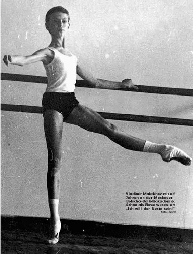 A young Vladimir Malakhov at the Bolshoi Ballet Academy