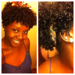 trendycurls:  Hey guys!! Wash and go put up with a scarf :)