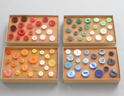 What better way to dress up our pin board than with these push pins topped with vintage buttons?