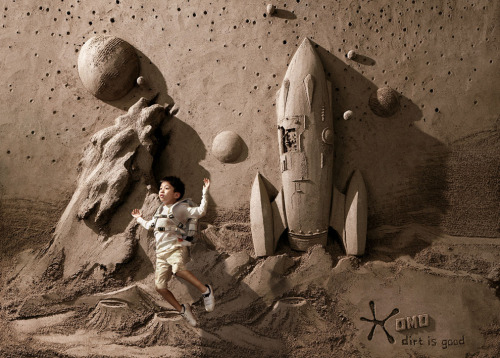 Coolest Detergent Ads Ever Feature Amazing Sand Sculptures