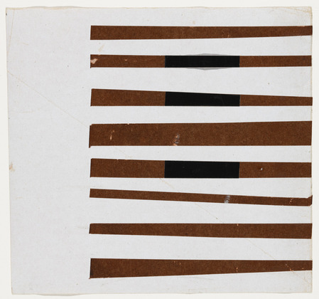 Ellsworth Kelly - Black, Brown, White, 1951